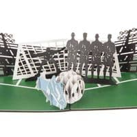 Men's Football 3D Pop Up Card | Free Handwriting & Send Service | UK Delivery